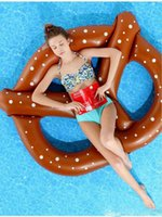 Wholesale Inflatable Swim Ring Giant Fun Bite Shape Donut Swimming Pool Water Float Raft beach toy inflatables