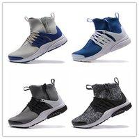athletic shoes zipper - New Arrival AIR PRESTO QS zipper high top anti flannel Duralon Men Fashion Sports Athletic Walking Mens Sneakers Running Shoe Eur