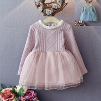 automatic er - Hug Me Girls Dress Christmas Kids Clothing New Autumn Winter Lace Tutu Dress Korean Fashion Long Sleeve Princess Dress ER