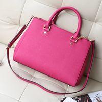 Wholesale High Quality New Fashion PU Leather Ladies Double zipper Bag Famous Popular Tote Shoulder Bag Women Handbags Female F024