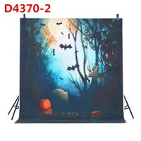 Wholesale 1 m Photography Background Backdrop Digital Printing Hallowmas Halloween Pumpkin Graveyard Bat Pattern for Photo Studio Free DHL D4370