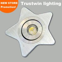 aluminum light point - Foyer sitting living room bedroom bathroom dimmable with Pentagram shape cabinet light five pointed star LED downlight