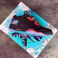 beta shoes - low china V Retro basketball shoes Black Bright Crimson Beta Blue Black sport shoes trainers Size us5