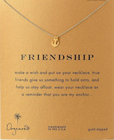 best friends present - Anchor Friendship Dogeared Necklace Friendship Noble and Delicate Jewelry K Gold Charm Necklace Best Friend Birthday Present