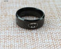 Wholesale Fashionable Stainless Steel Rings Batman Ring New Arrival Lucky Ring Cute Ring Lovers Ring mm Polished Ring
