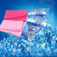 bath packages - Gifts package Cold Towel Summer Sports Ice Cooling Towel Double Color Hypothermia cool Towel cm for sports children Adult cooled towel
