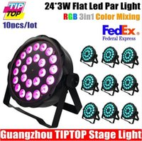 american dj products - 10XLOT ADJ Products MEGA FLAT TRI PAK Bright Tri Colored LED American DJ Mega TriPar Profile X10W RGB LEDS Freeshipping