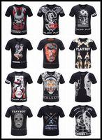 Wholesale High Quality Summer Skull Printed Men D Robin T Shirt Men s Casual Fitness Cotton Tee Shirt Balmain Camisetas Hombre PHILIP PLEIN T Shirts