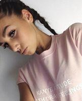 attitude t shirts - Kanye Attitude With Drake Feelings Pink Shirt Tumblr T shirt Funny TEE women summer Cotton T Shirt pink colour