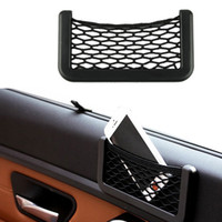 Wholesale 15X8cm Automotive Bag With Adhesive Visor Car Net Organizer Pockets Net Convenient cell phone Bag For Car
