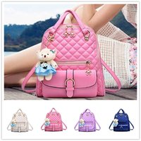 bear artwork - Brand new wave of female students backpack spring and summer fashion women casual shoulder bag Bear BAG67