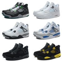 balck shoes - 10 Colours With shoes Box Hot Sale Retro IV balck White Cement Men Basketball Shoes Kids SHOES size