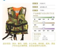 Wholesale waterproof adult beach camouflage life jacket life vest lifejacket can stand man of