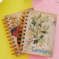 Wholesale 2016 Korea creative classical flower rollover coils of the Notepad hard copy diary notebook support and delivery