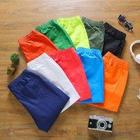 Wholesale Fashion Men Board Shorts Cotton Men Shorts Pocket Loose Shorts male Solid color Casual Shorts Homme