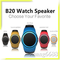 aac radio - B20 Bluetooth Watch Mini Speaker With FM Radio Support TF Card Super Bass Outdoor Speaker For Samsung Mobile Phone