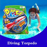 Wholesale Throwing torpedo kids toys SwimWays Bandits Toypedo Diving Torpedo Dive fun Pool Toys Hot Sell HHA922