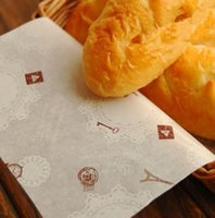 Wholesale 200 Eiffel Tower Sandwich Wrap Paper Hamburger Food Packaging Paper Greaseproof