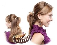 Wholesale Fluffy hair accessories hairpin clip buckle clip Masson Ponytail Hair styling tool cross energy saving headdress