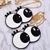 big eyelashes - Korea Ladies fashion big eyes eyeball Eyelashes shoulder bag satchels Silicon case For iphone plus for iphone s plus cover
