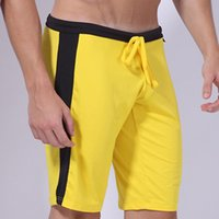 Wholesale mens sports shorts knee length shorts elastic milk silk casual shorts breathable fitness running gym shorts