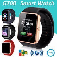 2016 GT08 Smart Watch Bluetooth Slot pour carte SIM NFC Health Watchs pour Android Samsung IOS Apple iphone Smartphone Bracelet Smartwatch DHL