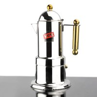 Wholesale Golden Handle cups Moka coffee maker Espresso VEV latte coffee pot stainless steel moka coffee machine