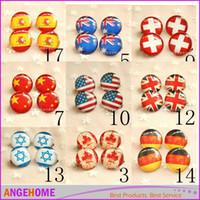 Wholesale 2 cm USA Flag Brooch American United Kingdom France Germany Canada Australia flag Brooch National Flag Pin Fashion Accessories