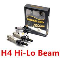 Wholesale 1 Set H13 W LM CREE LED Headlight Driving Bulb LUXEON MZ CHIP Hi Low Beam Xenon White K V Mix H4 LED Kit