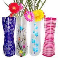 Wholesale PVC fold vase Plastic vase