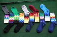 basket ball socks - Happy Socks Men Women Casual Dress cotton Stocking Gradient Colour Hosiery football basket ball sports socks underwear party Christmas gift
