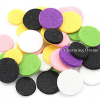 aromatherapy mixes - Mixed Color Round Shape Felt Pads Fit For mm mm Aromatherapy Essential Oils Diffuser Perfume Locket Pendants