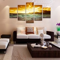 beach canvas art - 5 canvas sunset beach wallpaper art prints