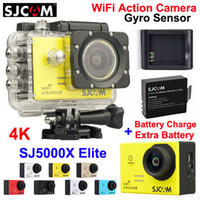 action camera - 100 Original SJCAM SJ5000X Elite WiFi Action Camera K fps LCD M Waterproof Gyro Extreme Sports Camera Extra Battery Charger