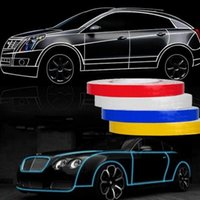 Wholesale 1 m cm M Reflective Strips Car Bumper Car Styling Night lights Scratches Stickers Car Stickers Motorcycle auto Light Safety