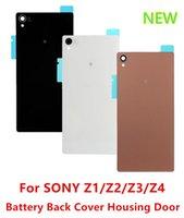 cover For Sony Xperia Z2 - For SONY Z Housing Back Battery Case Cover Glass Rear Door Adhesive Tape for Sony Xperia Z1 Z2 Z3 Z4