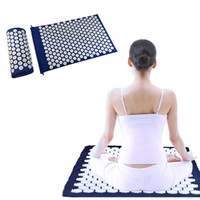acupuncture mat - Acupressure Massager Mat Pillow Relieve Stress Pain Acupuncture Spike Yoga Mat with Massage Pillow Massager Mat