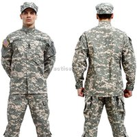 Wholesale Camouflage Tactical ACU Style Uniform Army Combat Outdoor Activities Hunting Clothing Set ACU Desert Camo