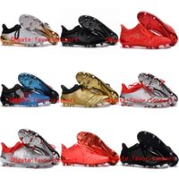 ankle grinding - New Arrival Football Soccer Shoes X Purechaos Firm Ground Cleats Cheap Football Boots Mens Soccer Boots Ankle Soccer Cleats FG AG Gold