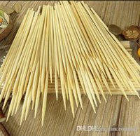 Cheap Wholeale 4mm*30cm Bamboo Wooden BBQ Party Skewers Disposable Sticks BBQ tools natural BAMBOO SKEWERS Barbecue Stickers H210298