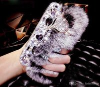 beavers fur - Promotions Luxury Bling Warm Soft Beaver Rabbit Fur Hair phone cases for iphone C S Plus splus protective Phone covers