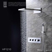 Wholesale Han Pai Brass Bathroom Hot and Cold Water Mixer Wall Mounted Bath Shower Set Faucet torneira banheiro HP1210