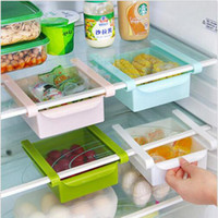 Wholesale 2016 new Slide Kitchen Fridge Freezer Storage Box Rack Shelf Holder Space Saver Organizer