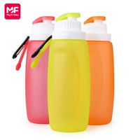 Wholesale New mL BPA Free Silicone Folding Sport Water Bottles Reusable Drink Kettle with Carabiner Clip Hook for Outdoor Hiking Cycling S3mini