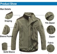 Wholesale Top US Outdoor Tactical TAD Military Fleece Jacket Men Thermal Shark Skin Patch Camping Hunting Jackets Warm Army Clothes Coat