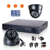 Wholesale 4CH H Security DVR HD Wide Angle TVL CMOS IR mm CCTV Cameras Multi channel real time recording synchronously