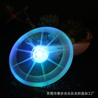 Wholesale New sports toy pet dog pet supplies LED luminous Frisbee colors optional support for mixed batch cm in diameter ZD033A