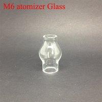 Precio de Hierbas vaporizador globo-Globo de cristal de vidrio pyrex atomizador hierba vaporizador de doble bobina de reemplazo de cerámica tubo de vidrio de algodón Bobinas de cristal del atomizador Cera M6