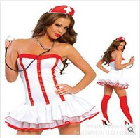 adult doctor costumes - Erotic Lingerie Adult Costumes Sexy Hot Sexy Lady Photo Halloween Costumes For Women Sexy Nurse Costume Doctor Costumes