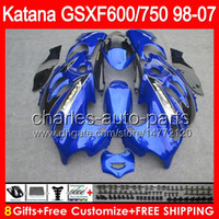 Wholesale Stock blue gifts For SUZUKI KATANA GSXF GSX F750 HM1 GSX750F GSXF750 Fairing Blue black